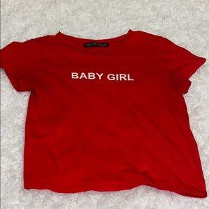 Baby Girl Red Crop Top